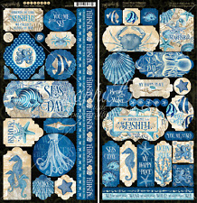 Graphic 45 OCEAN BLUE Sticker Set