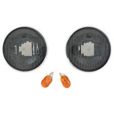 Mazda MX5 Mk1 Mk2 Mk2.5 Wing repeater lenses Smoked + Chrome rings & Amber bulbs