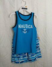 Nautica Toddler Boys Anchor 2 Piece Sleeveless Shorts Set Tank Top Swim Set 3T