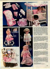 1984 ADVERT Doll Baby Little One Circus Talking Beans Kandi Black Just Born