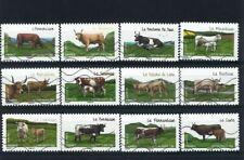 FRANCIA - 2014 Razze bovine francesi in serie completa USATA