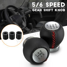 Leather 5 6 Speed Manual Car Gear Shift Knob Shifter Stick Lever For Toyota