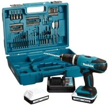 Makita G-Series 18V Cordless Combi Drill with 74 Accessories 16 Torque Settings