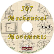 507 Mechanical Movements { 1893 Book ~ Toys That Move } on Dvd