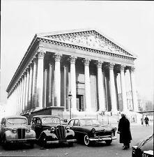 PARIS c.1960 - Autos  La Madeleine - Négatif 6 x 6 - N6 P72