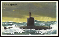 H.M.S Spartan #34 Embassy World Of Speed Cigarette Card (C278)