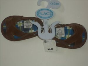 The Childrens Place Tan Baby Sandals Infant Size 0-3 Month