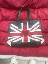 UK Flag And Heart Handbag By Disaster Design  Uk P33 Jan Constantine