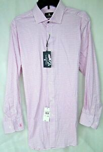 Psycho Bunny Pink Check Modern Fit Stretch Non-Iron MSRP $89 NWT sz 16 -x 32/33