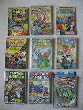 CAPTAIN AMERICA COMIC LOT BRONZE AGE TO MODERN AGE MIXED LOT - 73 COMICS