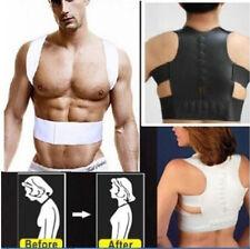 Magnetic Therapy Posture Corrector Body Back Pain Belt Brace Shoulder Support UK