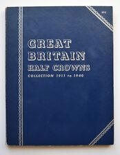 More details for whitman half crown collection 1911-1940 full coin set complete 32 half-crown