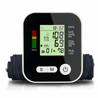 Digital LCD Upper Arm Blood Pressure Pulse Monitor Sphygmomanometer + Voice