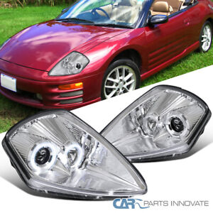 For 00-05 Mitsubishi Eclipse Halo Clear Projector Headlights Lamps Left+Right