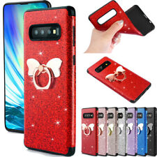 For Samsung Galaxy S20 Ultra Plus/S10/A70 Bling Butterfly Ring Stand Case Cover