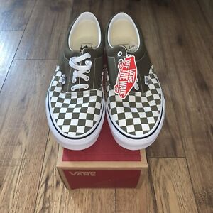 Vans Era checkerboard Men's Size 11  Beech / True White New RRP £57 Authentic
