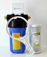 """Single Big blue 10"""" x 4.5"""" water filter for whole kitchen tap under sink NO PLV"""