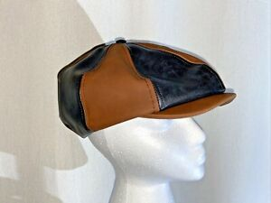Brixton Brood Hat Limited Edition Genuine Leather Newsboy Cap Small / 7 Rare
