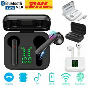 Bluetooth 5.0 Kopfhörer In-Ear Kabellos Mini Ohrhörer Stereo Headset TWS mit Mic