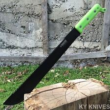 """21"""" FULL TANG Tactical Survival Fixed Blade Zombie MACHETE w/Sheath Sword Knife"""