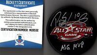 "BECKETT-BAS PATRICK SHARP ""ASG MVP"" SIGNED 2011 ALL-STAR GAME LOGO PUCK M28532"