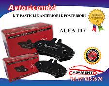 KIT PASTIGLIE ANTERIORI E POSTERIORI ALFA 147 156 1.6 16V 1.9 JTD