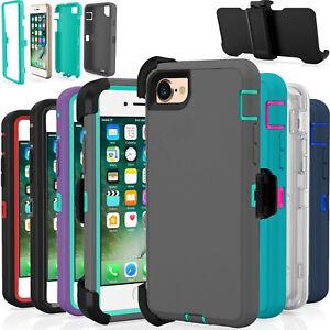 For iPhone SE (2nd Gen) Protective Shockproof Belt Clip Holster Case