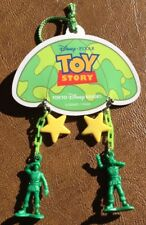 Tokyo Disney Resort Toy Story Green Army Men With Stars Dangle Earrings NWT