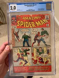 The Amazing Spider-Man #4/1st Sandman/CGC 2.0 Universal OW