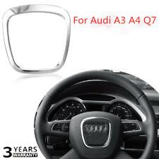 Aluminium Alloy Steering Wheel Cover Trim Body Emblem Sticker For Audi A3 A4 Q7