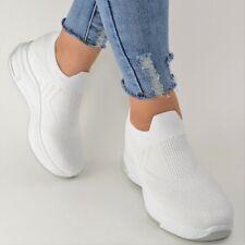 Damen Schuhe Sneaker Weiß Weiss Plateau Glitzer Sportschuhe Freizeit Keilabsatz