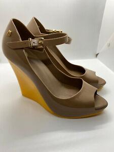 Melissa Prism Wedge Ankle Strap Peep Toe Wedge  US8/BRA37/EUR39/JP241/2