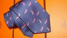 HERMES  silk tie. Running rabbits,  NEW  , Shooting tie ?