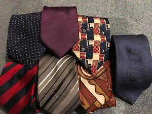 Various coloured men's ties