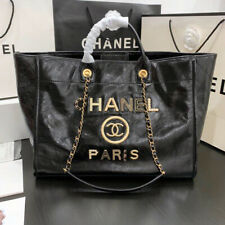 The New Chanel Shopping Bag - Shiny Calfskin - Large - Black