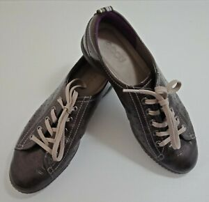 Ecco Womens Shoes Size EUR 40 Brown Soft Leather Lace Up Oxford Comfort Casual