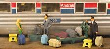 Monroe Models HO Scale Trains 2305 Modern Luggage Set Model Railroad Scenery