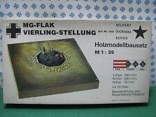 Vintage Kit -  MG - Flak Vierling-Stellung W.W.II  - 1/35  Hmb Art. nr. 970
