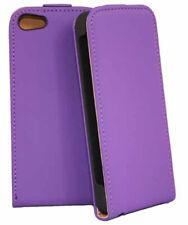 Premium Flip Case Tasche in lila für Apple  iPhone 5 5S SE  Hülle Cover Schutzca