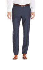 Perry Ellis Men's Regular Fit Tonal Textured Dress Pant, Navy, 36 x 32