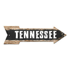 AP-0117 TENNESSEE Arrow Street Tin Chic Sign Name Sign Home man cave Decor