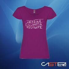Camiseta mujer abc abecedario luces navidad will stranger things (ENVIO 24/48h)