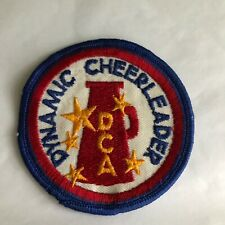 "Dca Dynamic Cheerleaders Association Embroidered 3"" Souvenir Patch Vintage 1978"
