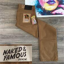Naked & Famous Denim Men's Weird Guy Selvedge Duck Canvas Pants Size 36x34 Jeans