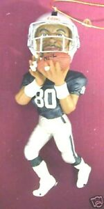 """JERRY RICE RAIDERS/49ers NFL Ornament 5"""" NEW In BOX NICE LIKENESS GREAT FAN GIFT"""
