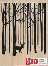 """""""Deer In The Woods"""" Rubber Stamp by Spellbinders"""