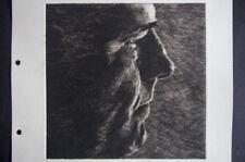 Etching Black Portrait Art Prints