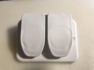 DOUBLE  EXTERIOR COAX CABLE HOOK UP WHITE PLASTIC TRAILER RV NEW OLD STOCK