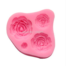 Fondant silicone Rose Mold 3d Flower moldes de silicona Cake Decorating Tools
