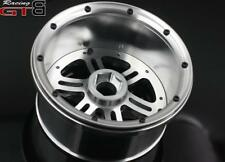 Full CNC alloy wheel hub with beadlock for Losi 5ive-t 5t 1/5 silver 4pcs